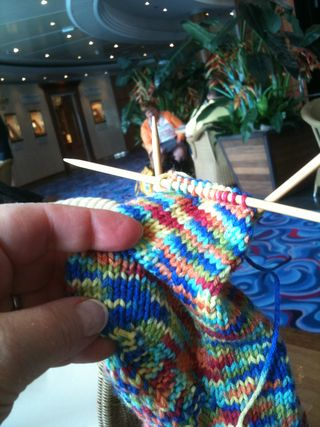 The sock I finished