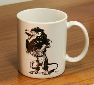 Laughing lion mug