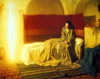 """The Annunciation"" -- Henry Ossawa Tanner, 1898"