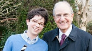 Senator George Mitchell with his son, Andrew