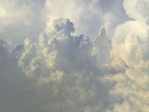 Spooky Jesus on the Cloud Elevator