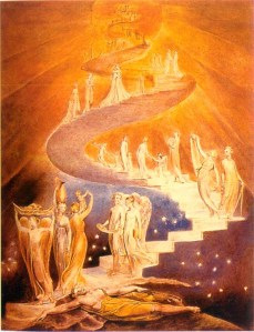 "William Blake, ""Jacob's Ladder"""