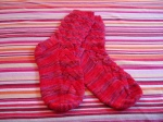 I must have made 15 pairs of socks in this pattern. Whose were these? Not sure. For a swap, I think.