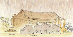 "Left behind, from Peter Spier's ""Noah's Ark"""