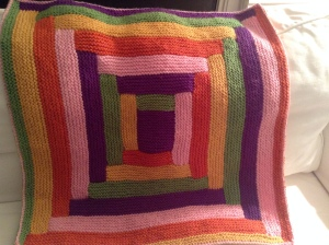 Most recent (non Christmas present) finished object - I have been knitting baby blankets like mad this year.