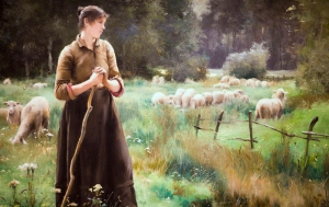 """The Good Shepherd,"" Julien Dupre (1851-1910)"