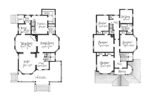 Victorian House floor plan I'm adapting for the family in my novel.