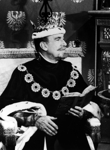 Walter Pidgeon as the King, 1965.