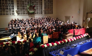 Demonstrators on the dais at Smith College Vespers