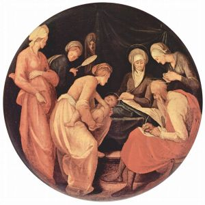 Jacopo Pontormo, 1526 - Note Zechariah getting himself out of trouble - Wikimedia Commons